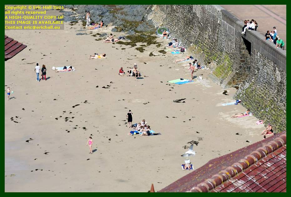 people on beach plat gousset Granville Manche Normandy France Eric Hall