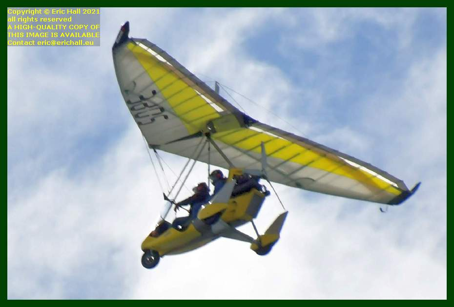 powered hang glider pointe du roc Granville Manche Normandy France Eric Hall