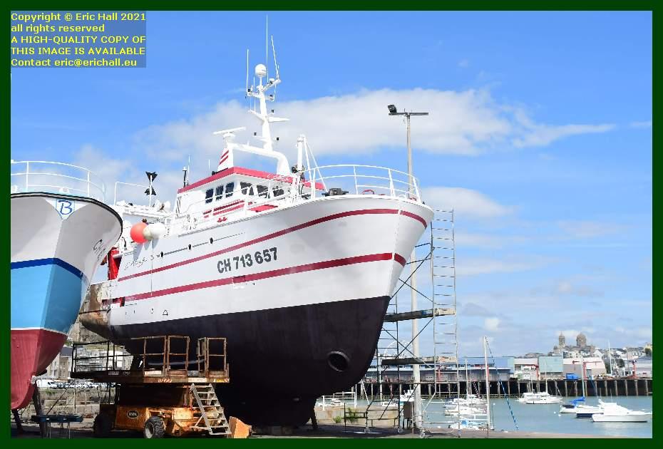 l'alize 3 chantier naval port de Granville harbour Manche Normandy France Eric Hall
