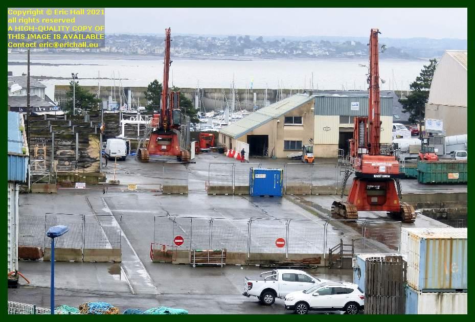 empty quayside port de Granville harbour Manche Normandy France Eric Hall