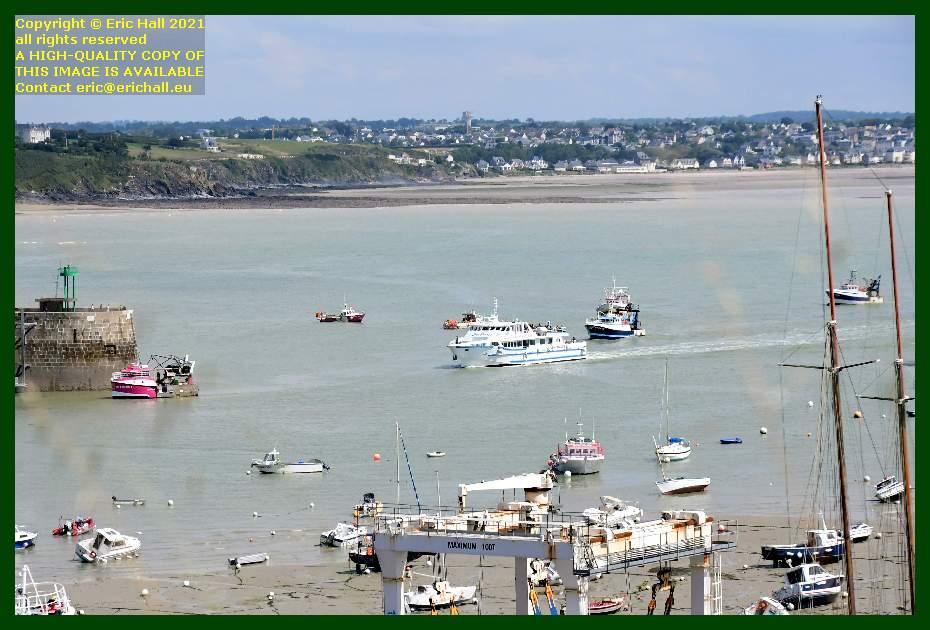 joly france fishing boats entering port de Granville harbour Manche Normandy France Eric Hall