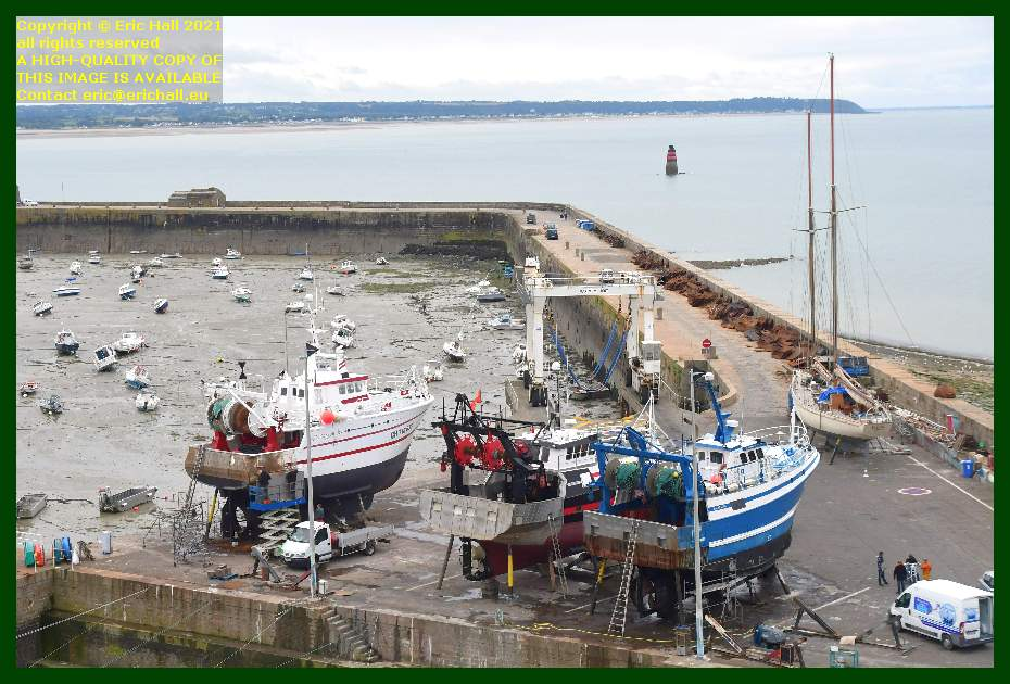 l'alize 3 black pearl trawlers chantier naval port de Granville harbour Manche Normandy France Eric Hall