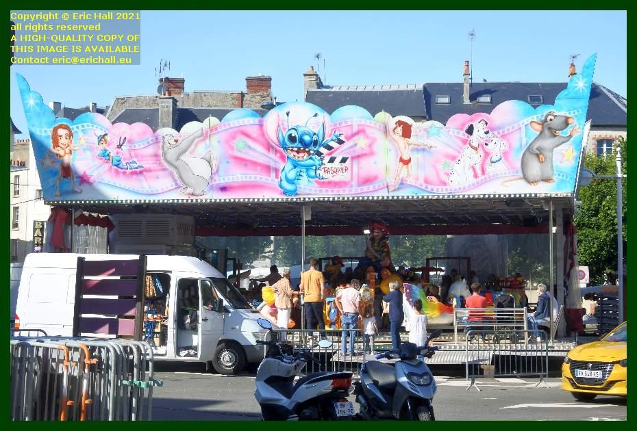 moulin childrens roundabout place generale de gaulle Granville Manche Normandy France Eric Hall