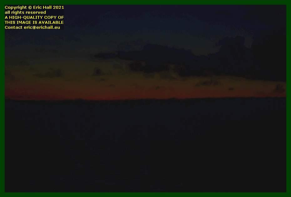 midnight sun baie de Granville Manche Normandy France Eric Hall
