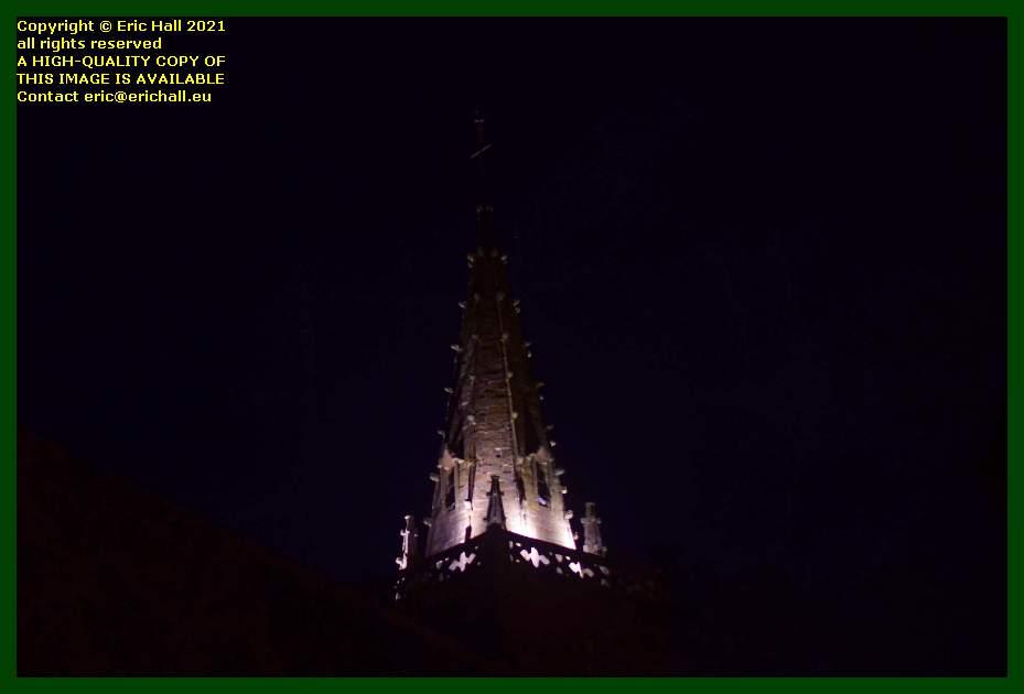 tower of eglise notre dame de cap lihou Granville Manche Normandy France Eric Hall