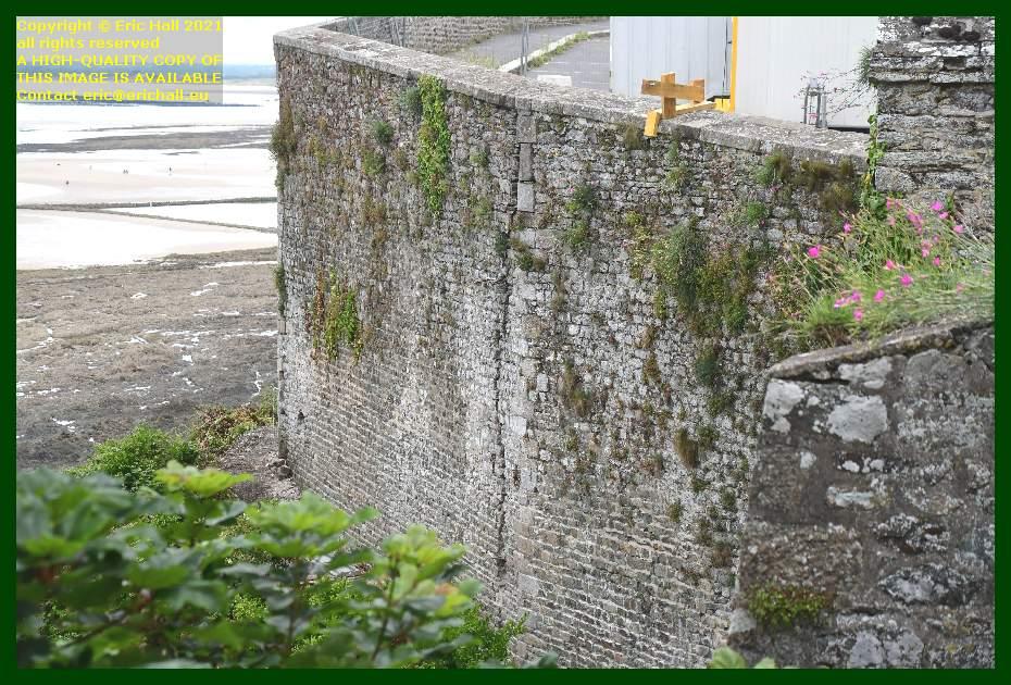 medieval city wall crumbling place du marche au cheveaux Granville Manche Normandy France Eric Hall