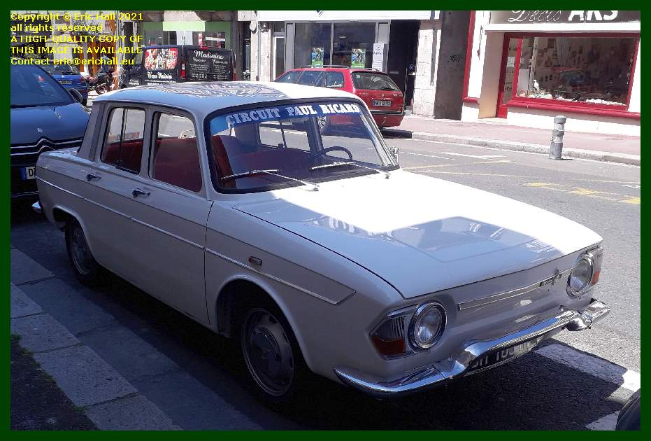 old cars renault 8 rue couraye granville france Eric Hall
