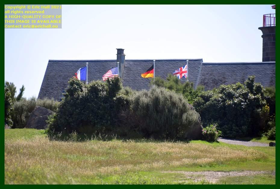 flags pointe du roc Granville Manche Normandy France Eric Hall