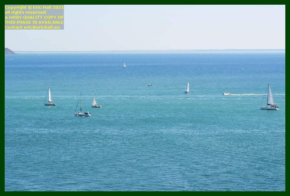 boats heading to harbour baie de mont st michel Granville Manche Normandy France Eric Hall