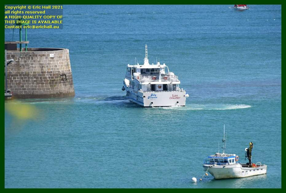 joly france leaving port de Granville harbour Manche Normandy France Eric Hall