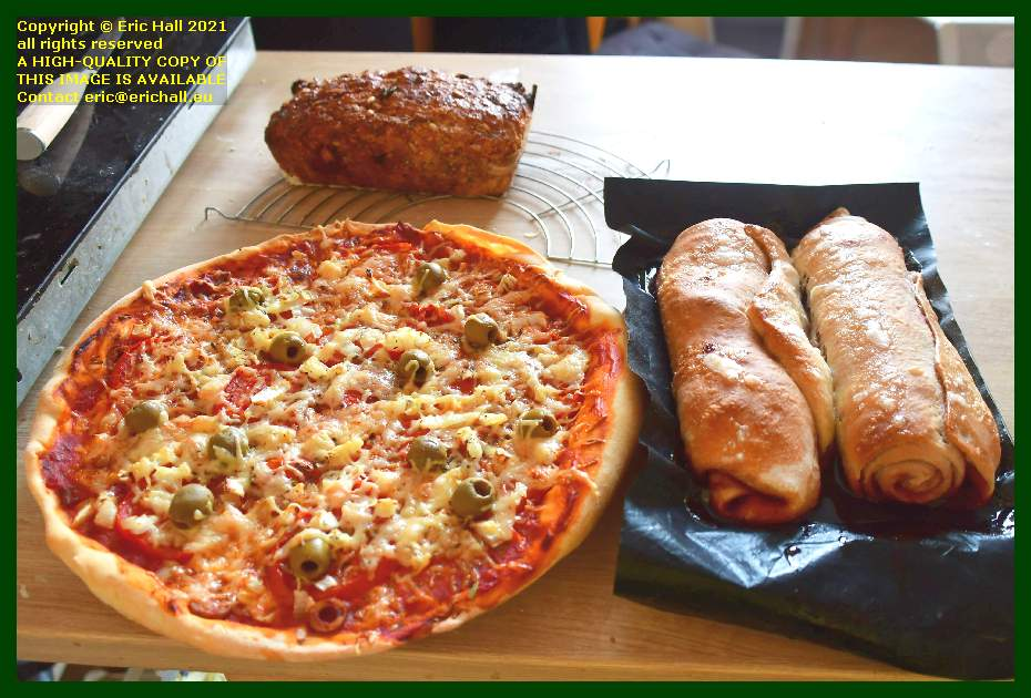 vegan pizza jam roly poly fruit bread Granville Manche Normandy France Eric Hall