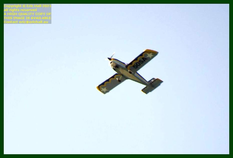 light aircraft 50SA pointe du roc Granville Manche Normandy France Eric Hall