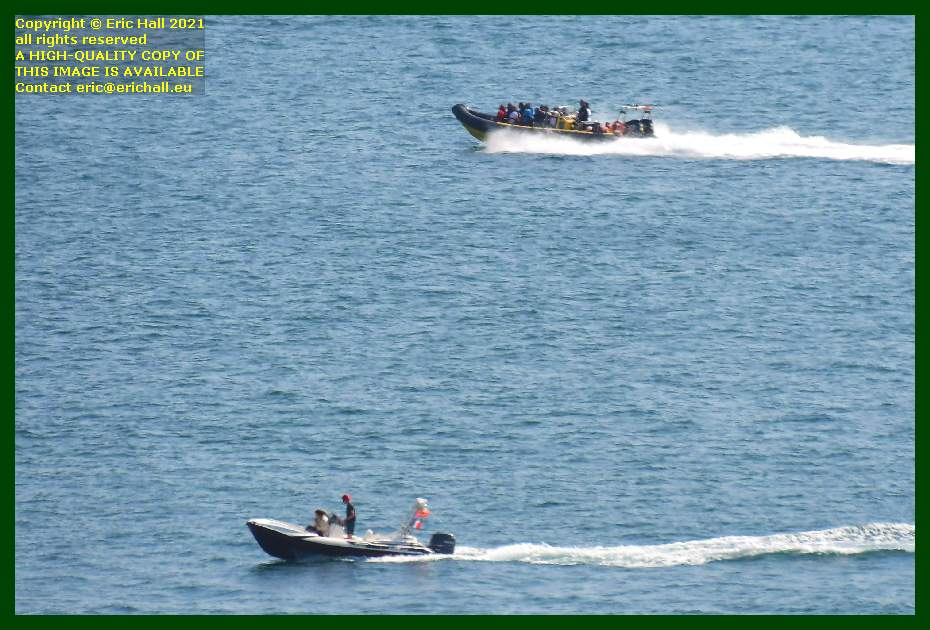 zodiac speedboat baie de mont st michel Granville Manche Normandy France Eric Hall