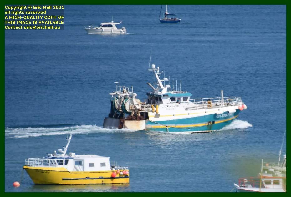coelacanthe leaving port de Granville harbour Manche Normandy France Eric Hall
