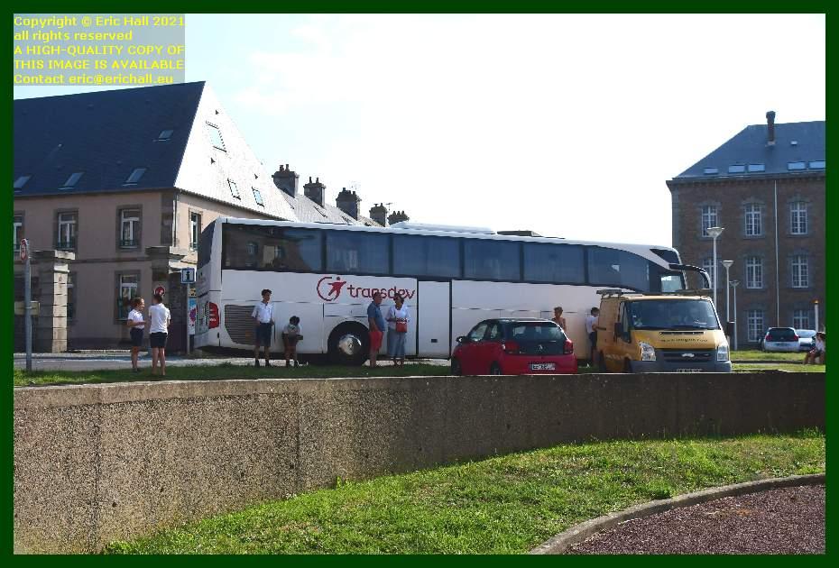 bus parked place d'armes Granville Manche Normandy France Eric Hall