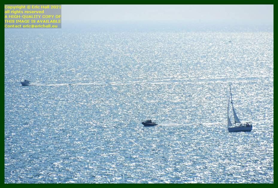 yacht speedboats baie de Granville Manche Normandy France Eric Hall
