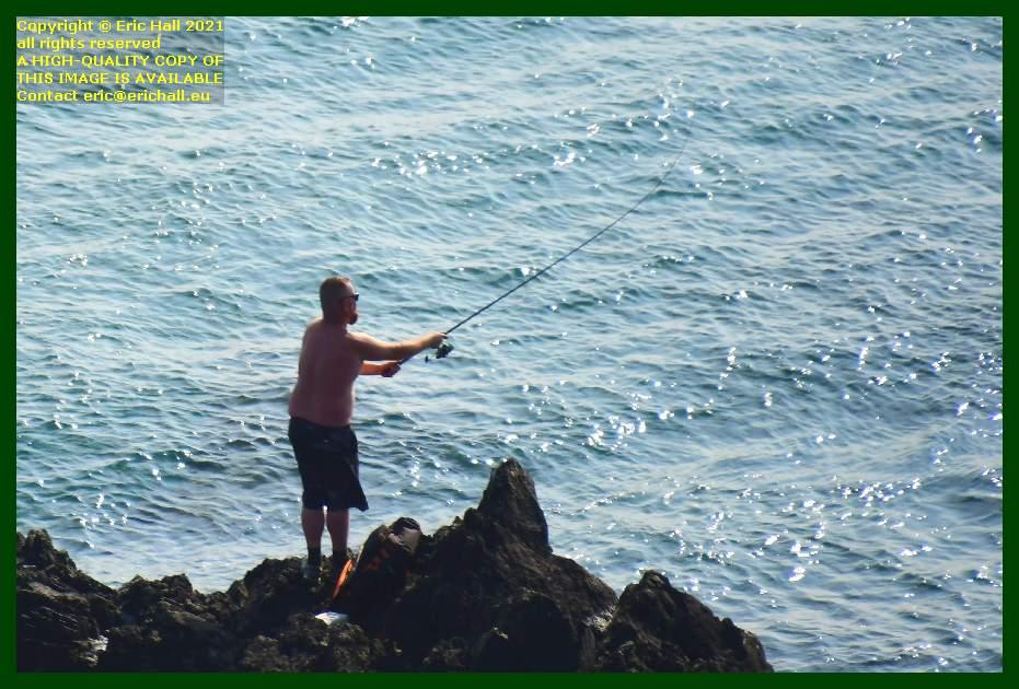 fisherman pointe du roc Granville Manche Normandy France Eric Hall