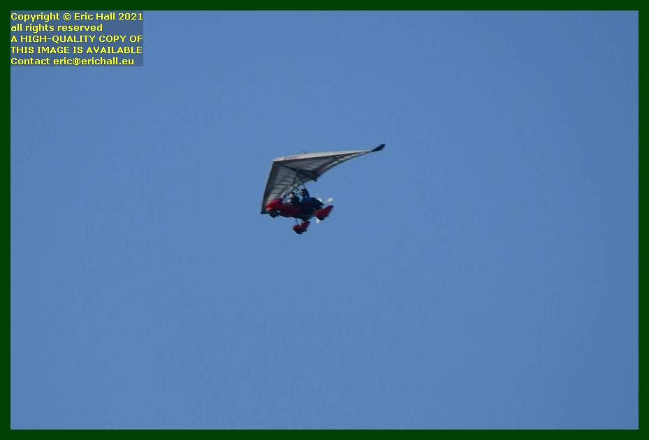 powered hang glider microlight pointe du roc Granville Manche Normandy France Eric Hall