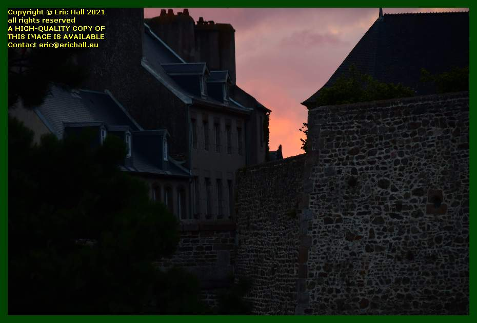 sunrise walled city Granville Manche Normandy France Eric Hall