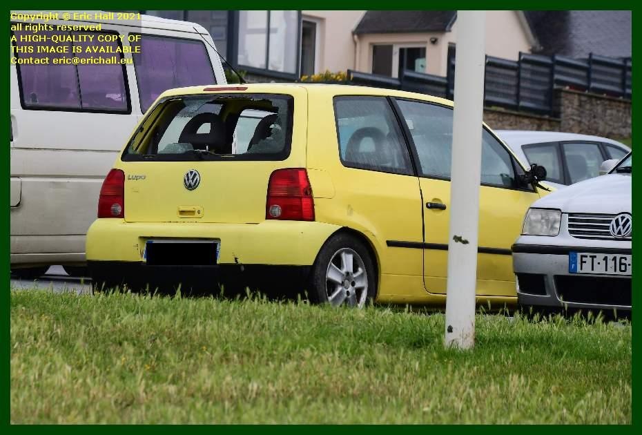 volkswagen lupo with broken rear window boulevard vaufleury Granville Manche Normandy France Eric Hall