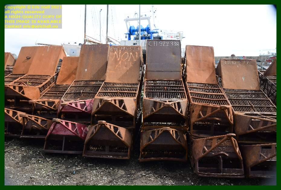 fishing dredges port de Granville harbour Manche Normandy France Eric Hall