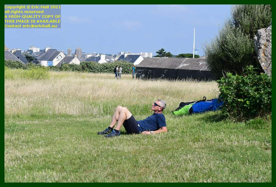 hang glider at pointe du roc Granville Manche Normandy France Eric Hall