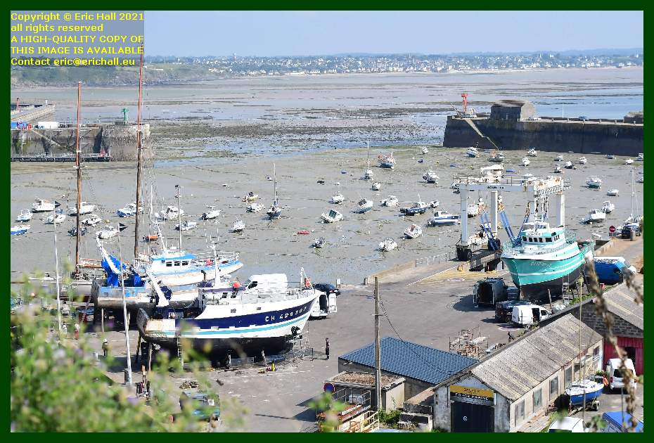 trawler charlevy yacht rebelle chantier naval port de Granville harbour Manche Normandy France Eric Hall