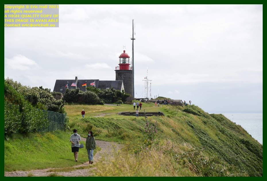 people on footpath pointe du roc Granville Manche Normandy France Eric Hall