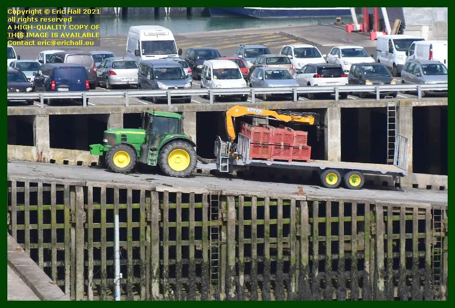 tractor trailer port de Granville harbour Manche Normandy France Eric Hall