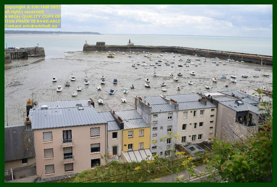 boats aground port de Granville harbour Manche Normandy France Eric Hall