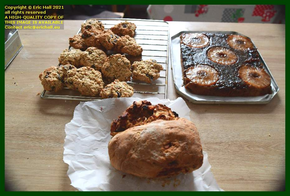 home made fruit bread oat and cranberry cookies pineapple upside down cake Granville Manche Normandy France Eric Hall