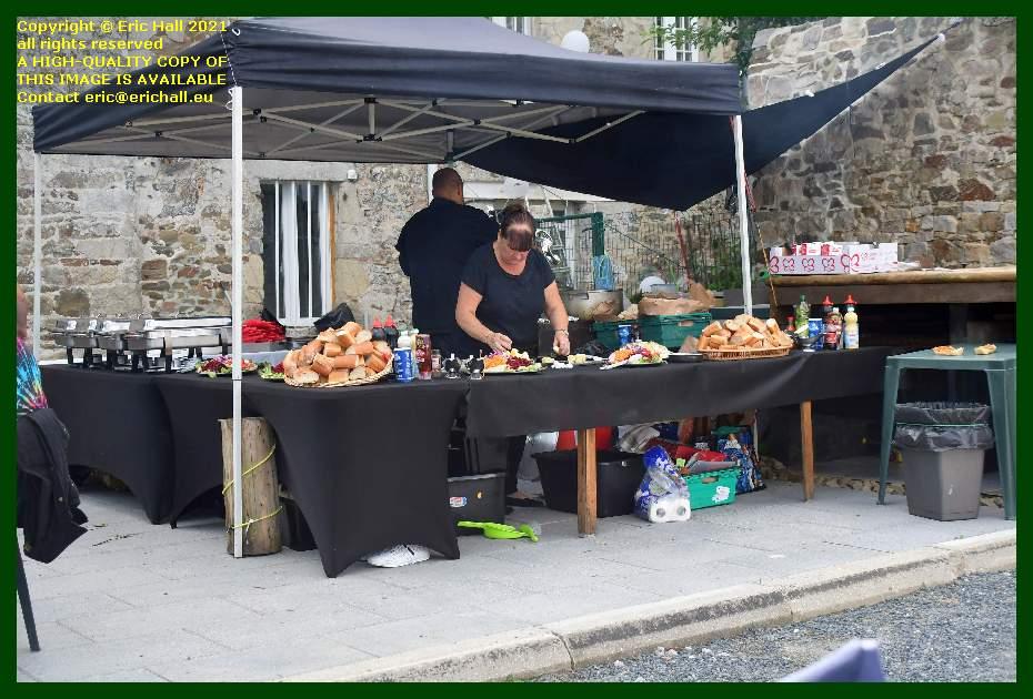 food stall sam beavis lee edwards wedding nicorps Manche Normandy France Eric Hall