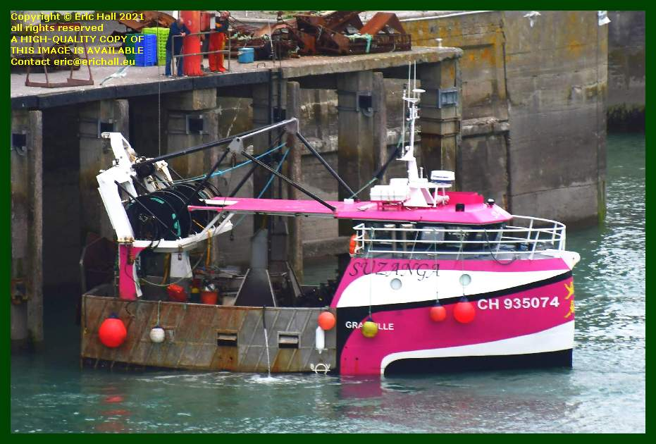 trawler suzanga port de Granville harbour Manche Normandy France Eric Hall