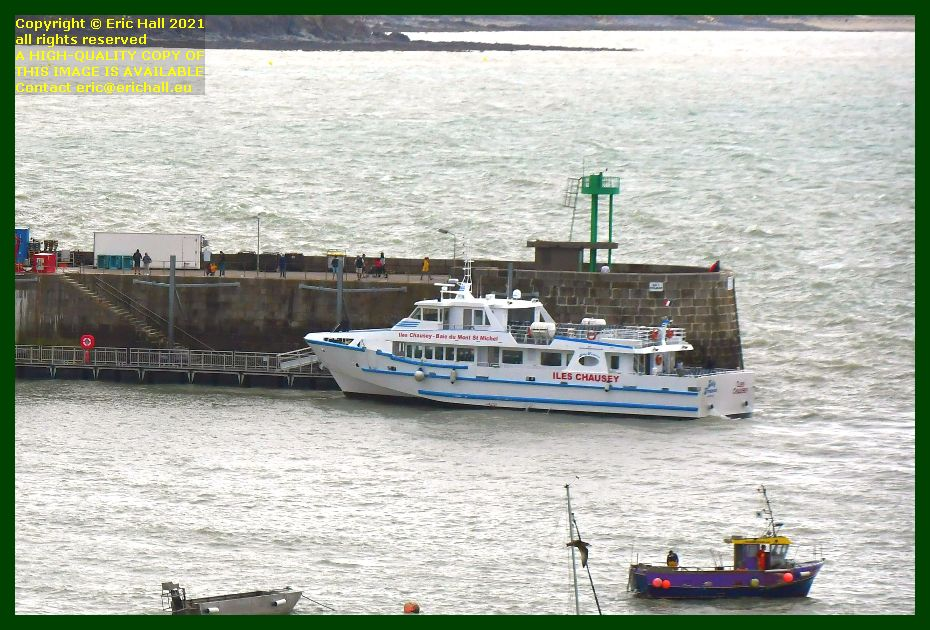 joly france leaving ferry terminal port de Granville harbour Manche Normandy France Eric Hall