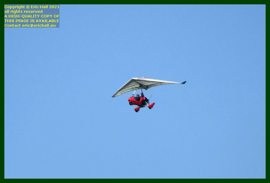 microlight powered hang glider pointe du roc Granville Manche Normandy France Eric Hall