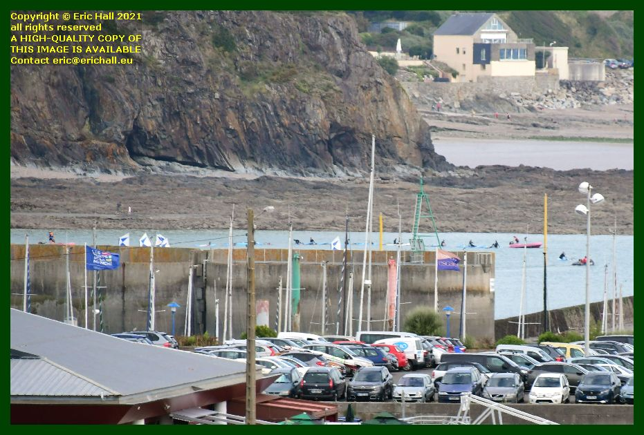 paddleboarders plage greve de herel Granville Manche Normandy France Eric Hall