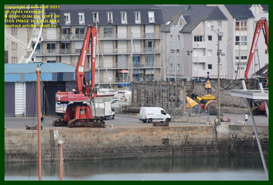 gone and never called me mother empty quayside port de Granville harbour Manche Normandy France Eric Hall