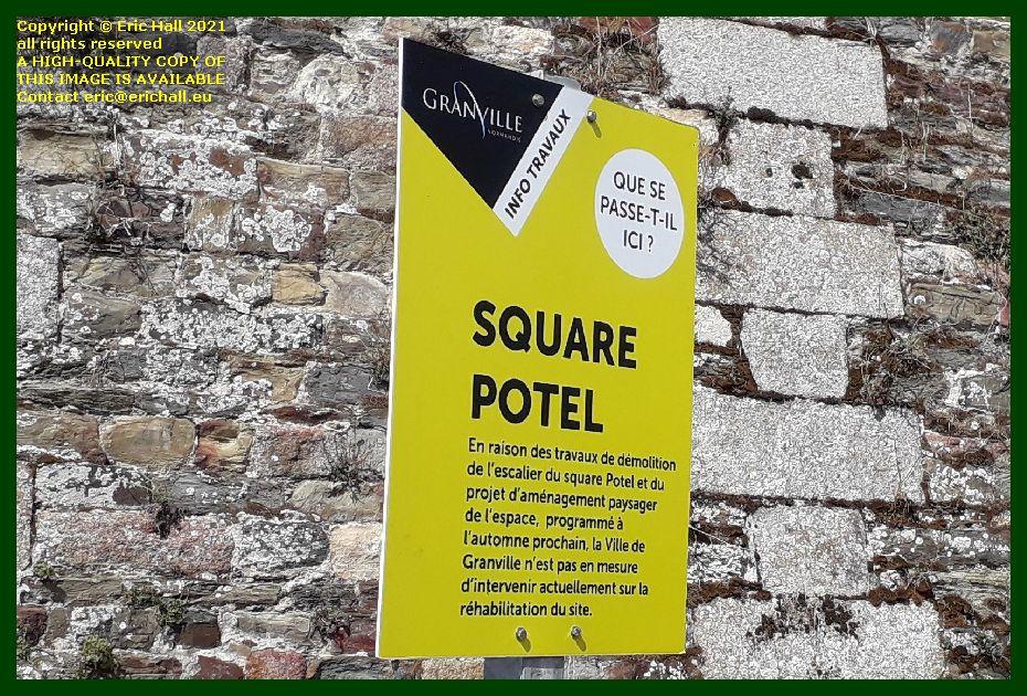 public notice square potel Granville Manche Normandy France Eric Hall