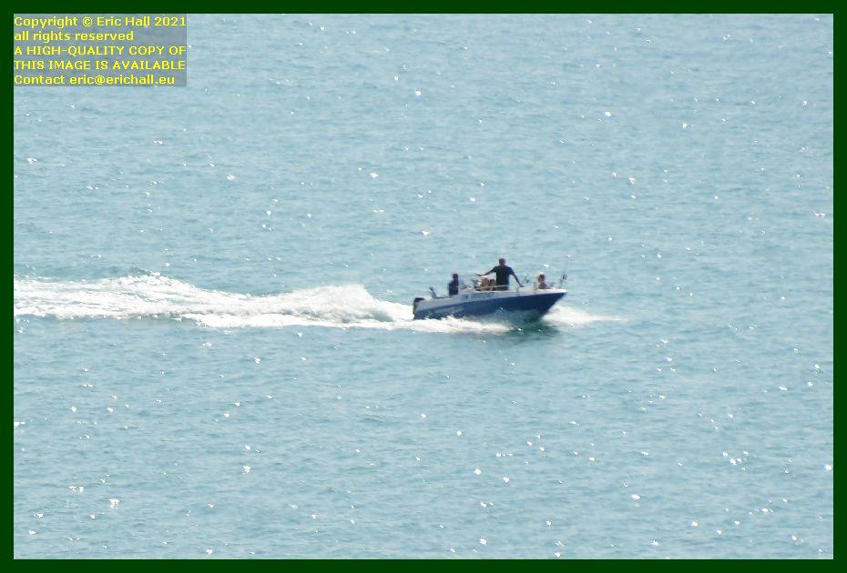 fishermen speedboat baie de mont st michel Granville Manche Normandy France Eric Hall
