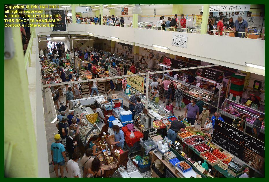 public indoor market Granville Manche Normandy France Eric Hall