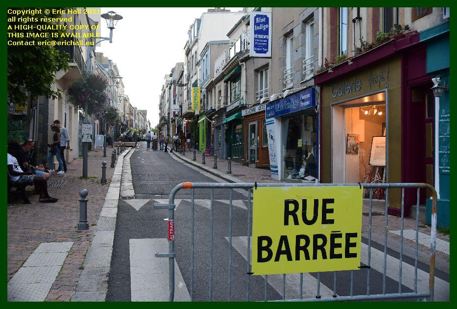 nuit des artistes rue des juifs closed Granville Manche Normandy France Eric Hall