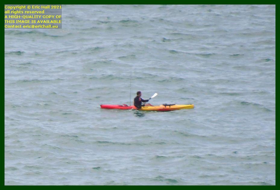 kayaker baie de Granville Manche Normandy France Eric Hall