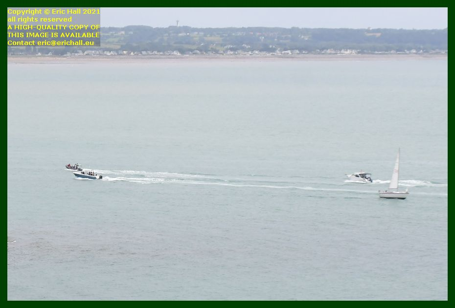 boats heading for harbour port de Granville harbour Manche Normandy France Eric Hall