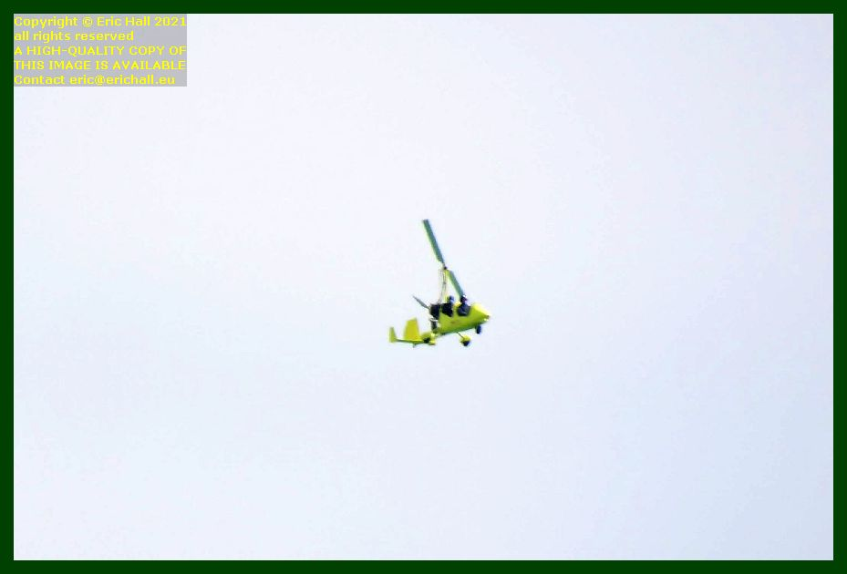 yellow autogyro ponte du roc Granville Manche Normandy France Eric Hall