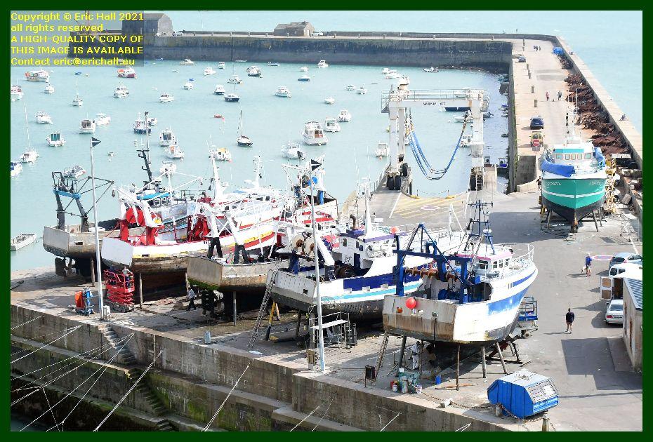 trawler charlevy trafalgar chantier naval port de Granville harbour Manche Normandy France Eric Hall