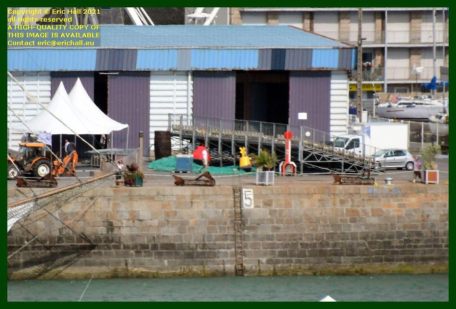 grandstand port de Granville harbour Manche Normandy France Eric Hall