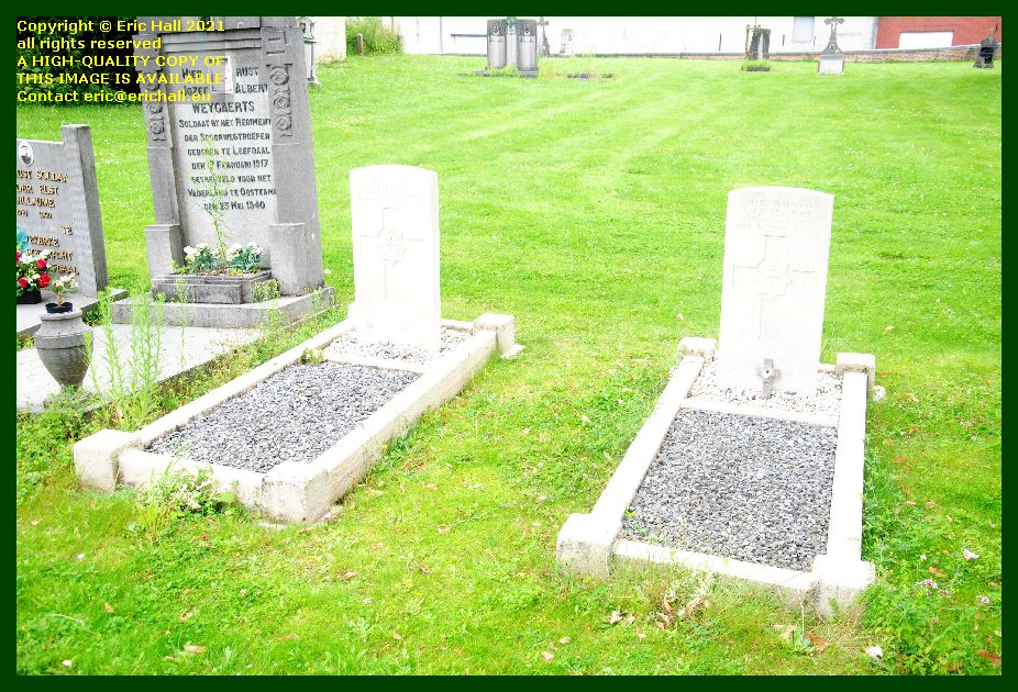 war graves leefdaal belgium Eric Hall