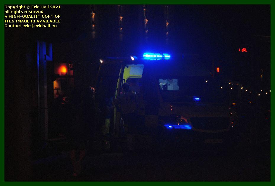 ambulance attending road accident tiensestraat tiensevest leuven belgium Eric Hall