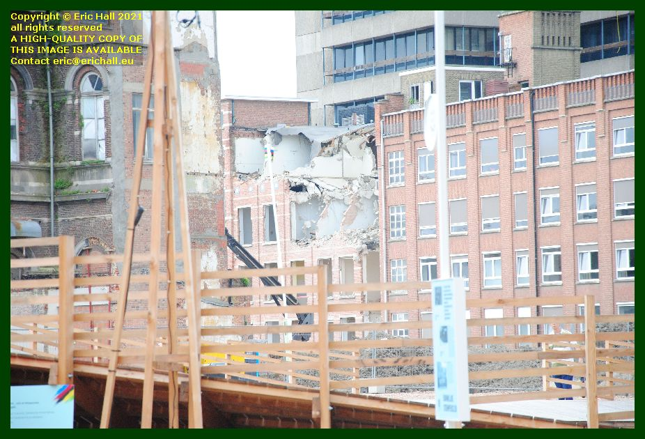 demolition at rear of sint rafael hospital kapucijnenvoer leuven belgium Eric Hall