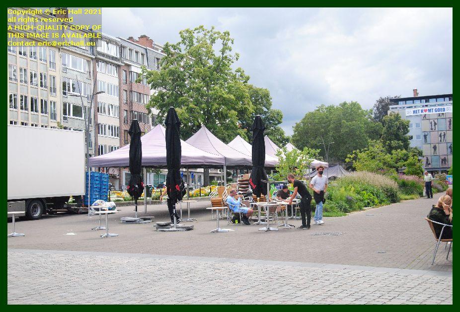 open air market closing down herbert hooverplein leuven belgium Eric Hall
